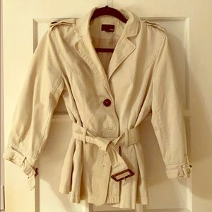 H&M Double-Breasted Khaki Trench Coat